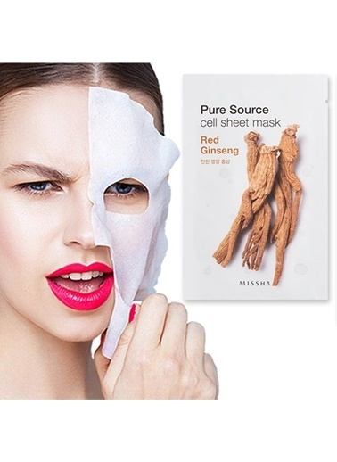 Missha Pure Source Cell Sheet Mask (Red Ginseng) Renksiz